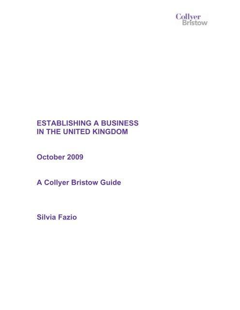 Establishing a business in the UK - Embassy of Brazil in London