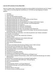 Liste der 80 Krankheiten für den Morbi-RSA Nach § 31 Absatz 4 ...