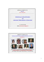 Die Präsentation von Dr. Thomas Schindler - palliative zh+sh