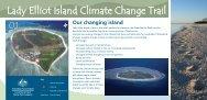 Lady Elliot Island climate change trail signage