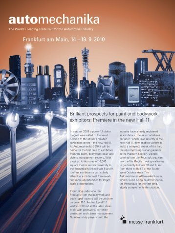 Lack_Karosserie_en (PDF) - Automechanika - Messe Frankfurt