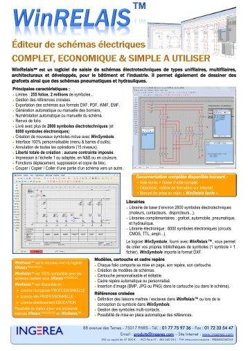 WinRelais™ est un logiciel de saisie de schémas électrotechniques ...