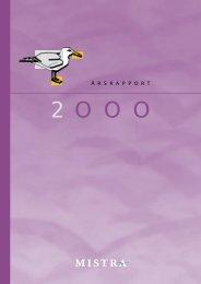 Årsrapport 2000 - Mistra