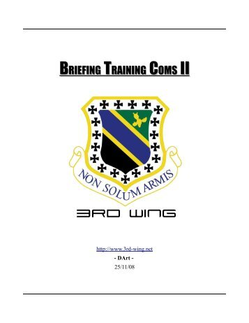 Briefing Coms II - 3rd Wing
