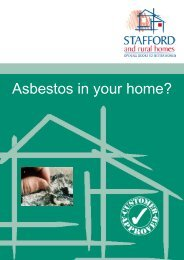 Asbestos in my home - Stafford and Rural Homes
