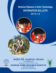 Information Bulletin - National Dairy Research Institute