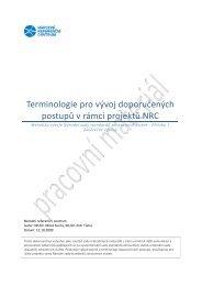 Terminologie pro vývoj doporučených postupů v rámci projektů NRC