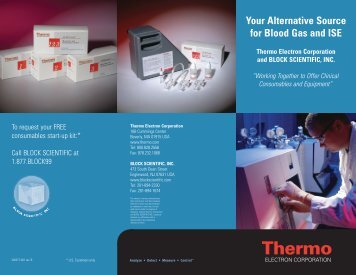 Your Alternative Source for Blood Gas and ISE Thermo Electron ...