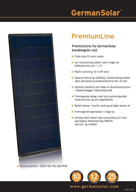 PremiumLine - German Solar