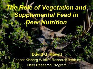 Why Vegetation Matters - Caesar Kleberg Wildlife Research Institute