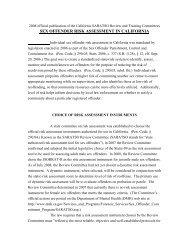 sex offender risk assessment in California - Defense for SVP