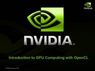 Introduction to GPU Computing with OpenCL - Prace Training Portal