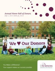 We Our Donors - University of the Sciences in Philadelphia