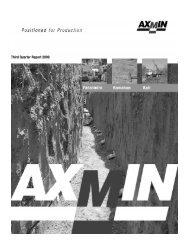 Third Quarter Report 2009 - AXMIN Inc.