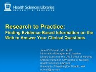 Research to Practice - University of Washington