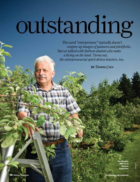 Outstanding in Their Fields - Babson College
