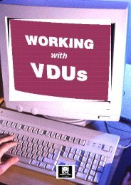 working with VDUs