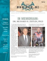 IN MEMORIAM: - Wisconsin Veterans Museum Foundation