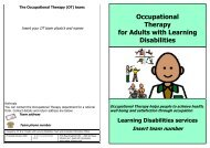 Occupational Therapy for Adults with Learning Disabilities