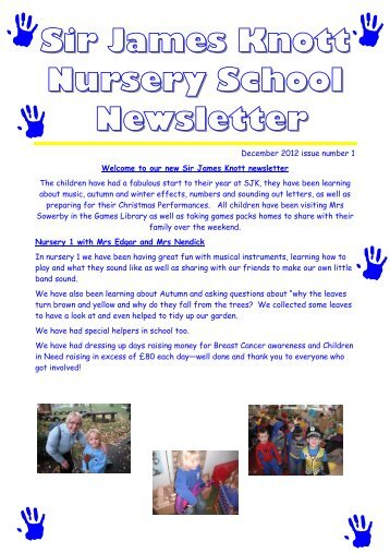 New newsletter - Sir James Knott Nursery School and North Shields ...