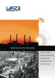 resistance spot welding - LASKA Technika Przemysłowa Sp. z oo