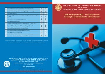 For Medical Persons