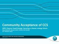 Community Acceptance of CCS - Expert Group on Clean Fossil Energy