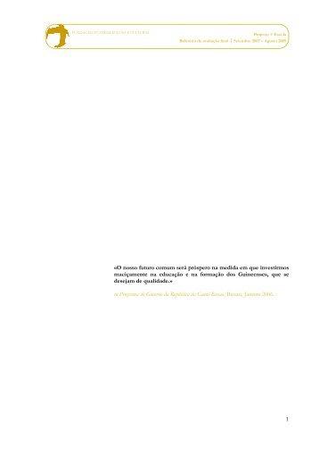 """Consulte aqui o Relatório de Avaliação Final do Projecto """"+ ... - FEC"""