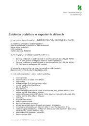 Evidenca podatkov o zaposlenih delavcih - Zavod RS za zaposlovanje