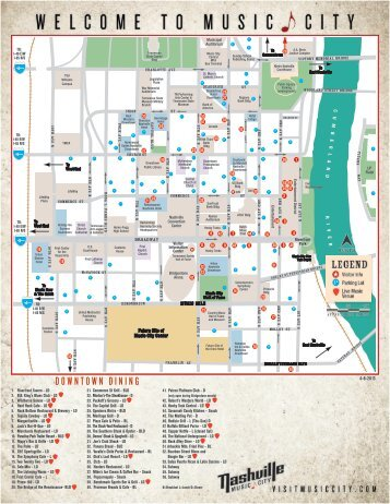 Downtown Dining Map - Music City