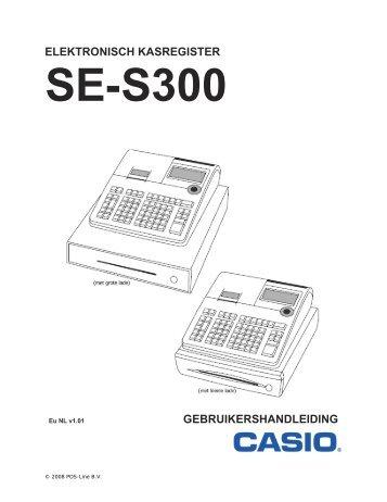 Casio SE S300 handleiding - Jan Kassa