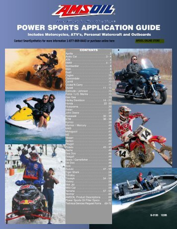 Power Sports Application Guide - AMSOIL Synthetic Motor Oil