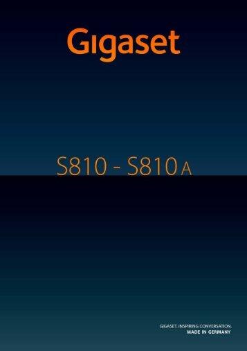 Gigaset S810-S810A - TKR