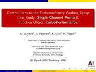Contributions to the Turbomachinery Working Group: Case Study ...