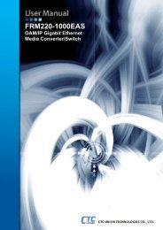 FRM220-1000EAS User Manual - CTC Union Technologies Co.,Ltd.