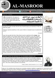 AL-MASROOR - Majlis Khuddamul Ahmadiyya UK