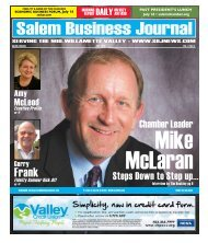 Jul 2011 - Salem Business Journal