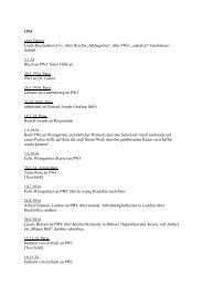 Liste der Briefe - SLM