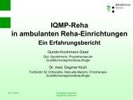 IQMP-Reha in ambulanten Reha-Einrichtungen Ein Erfahrungsbericht