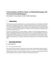 Untersuchung und Bewertung von Bodenbelastungen auf ...