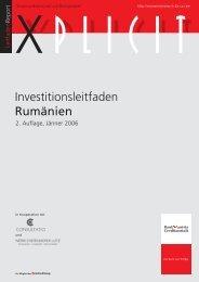 Investitionsleitfaden Rumänien - Enterprise Europe Network Bayern