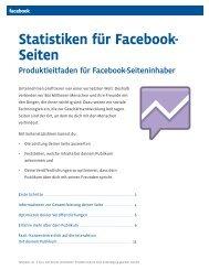 Statistiken für Facebook- Seiten