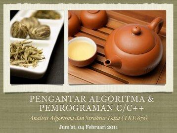 PENGANTAR ALGORITMA & PEMROGRAMAN C/C++