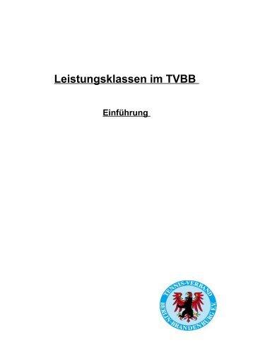 Leistungsklassen im TVBB - TVBB eV - News