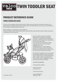 Twin Toddler Seat Instructions.pdf - Valco Baby