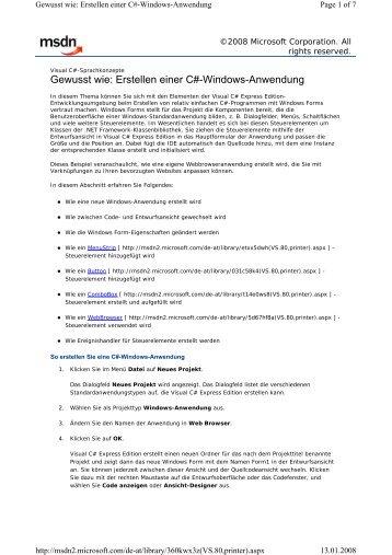 Einfacher Webbrowser [PDF | 96KB]