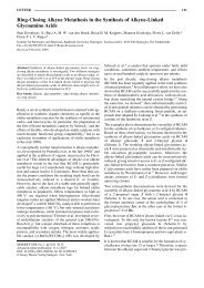 Ring-Closing Alkyne Metathesis in the Synthesis of Alkyne-Linked ...