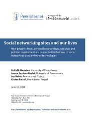 Social networking sites and our lives - Pew Internet & American Life ...