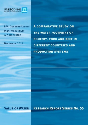 Value of Water Research Report Series No. 55 A comparative study ...