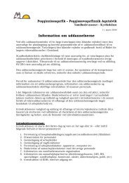 Generel information om uddannelserne - Peqqik.gl